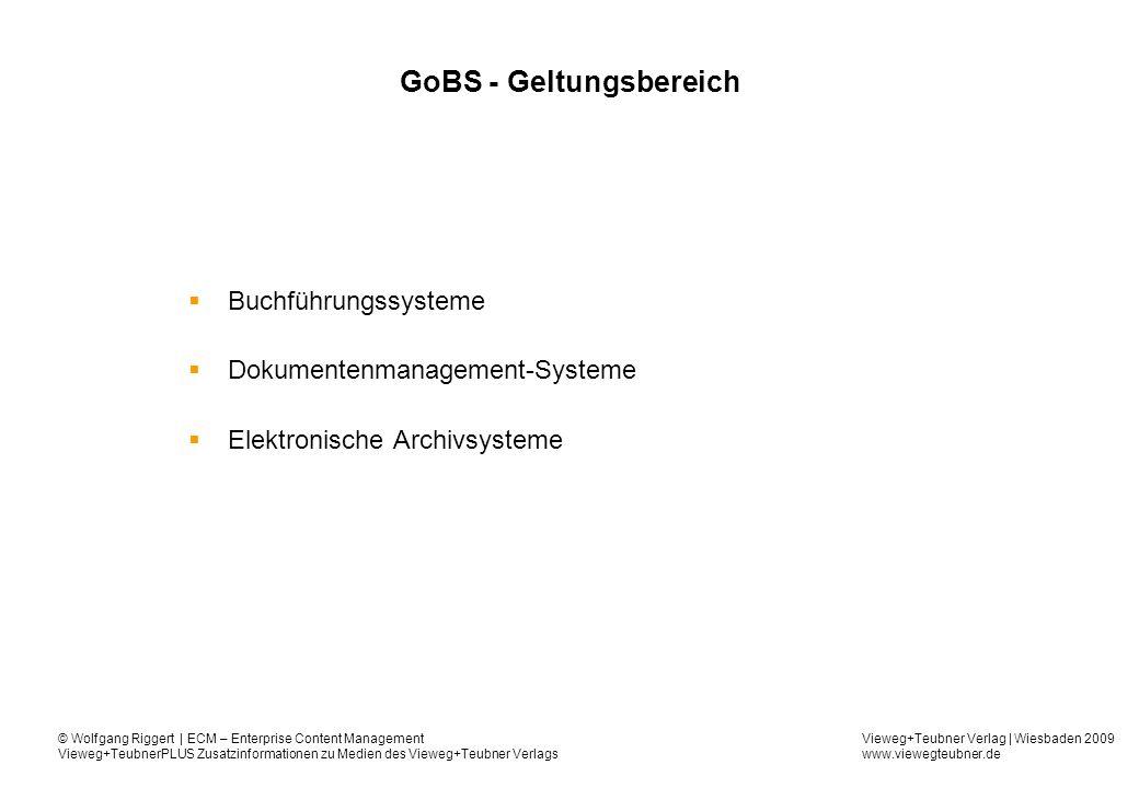 GoBS - Geltungsbereich