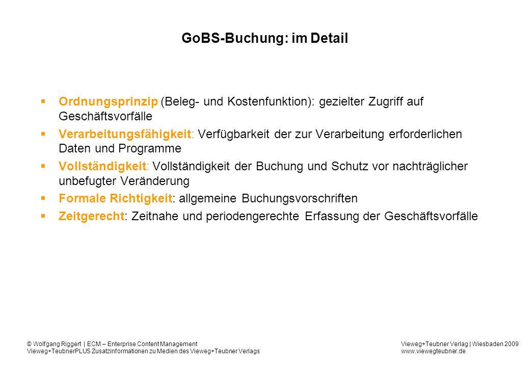 GoBS-Buchung: im Detail