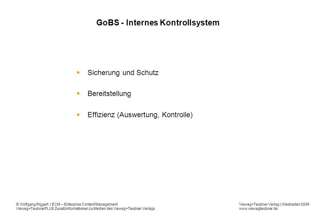 GoBS - Internes Kontrollsystem