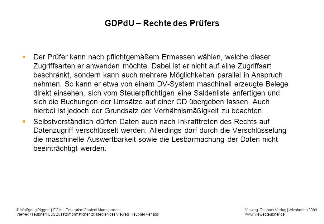 GDPdU – Rechte des Prüfers