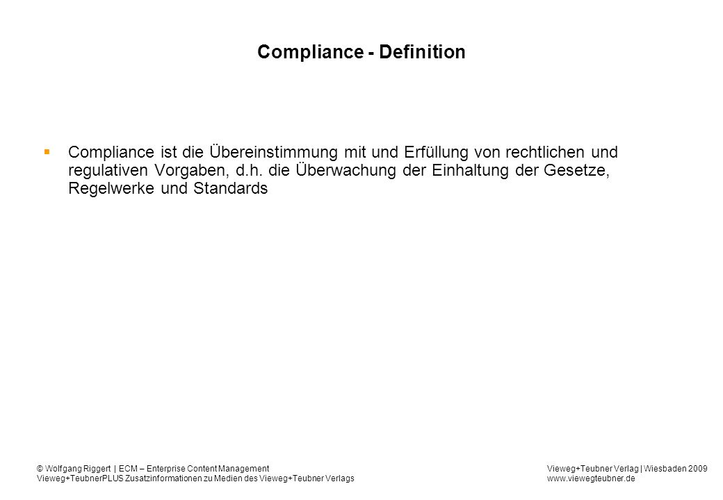 Compliance - Definition