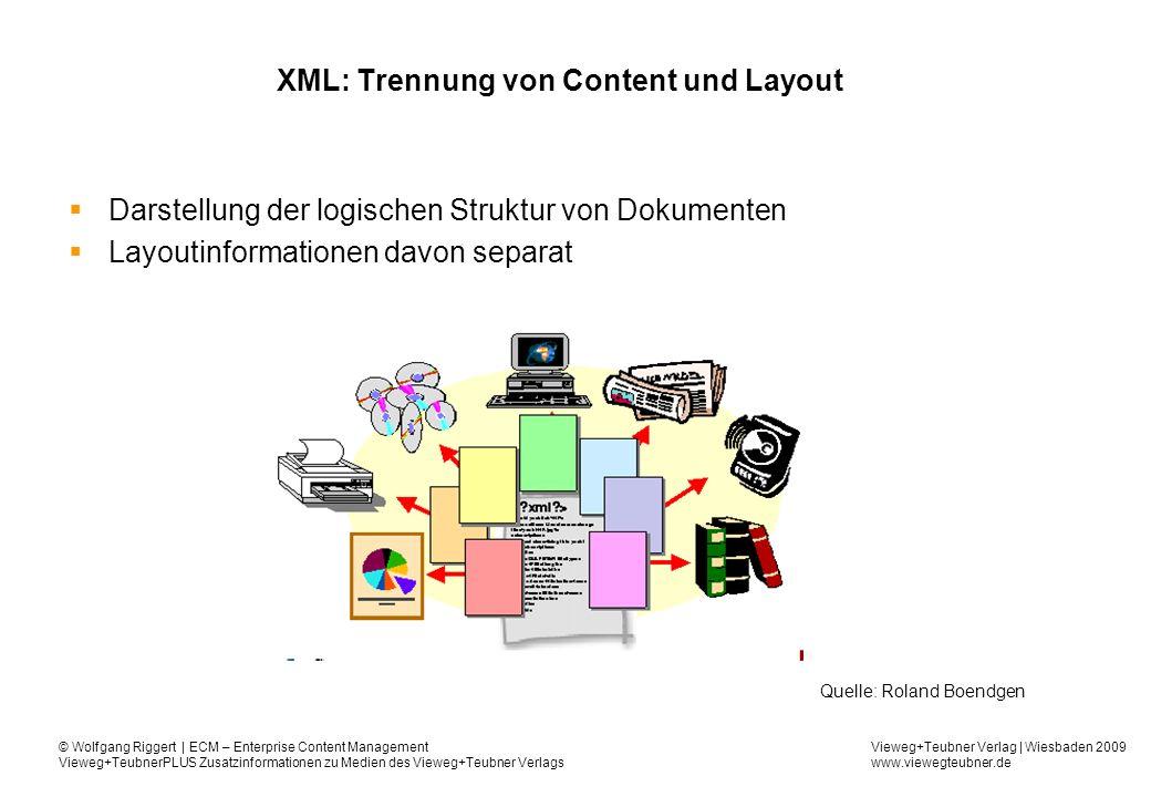 XML: Trennung von Content und Layout