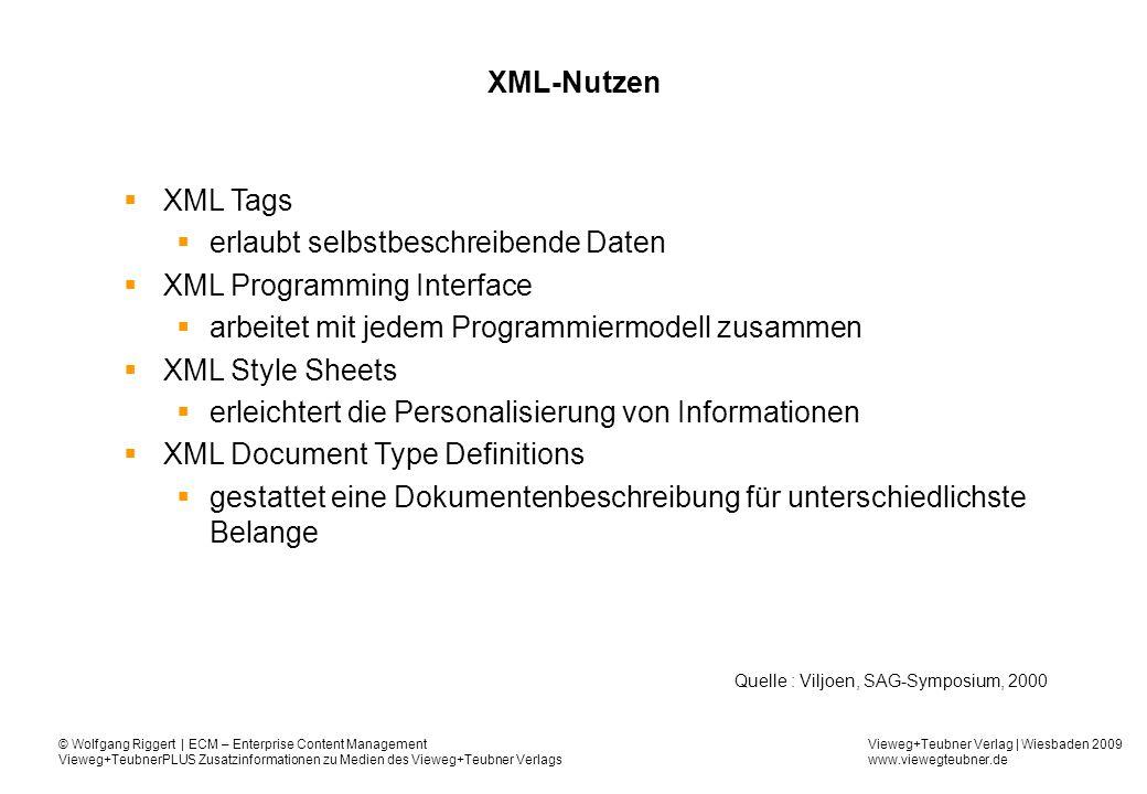 erlaubt selbstbeschreibende Daten XML Programming Interface