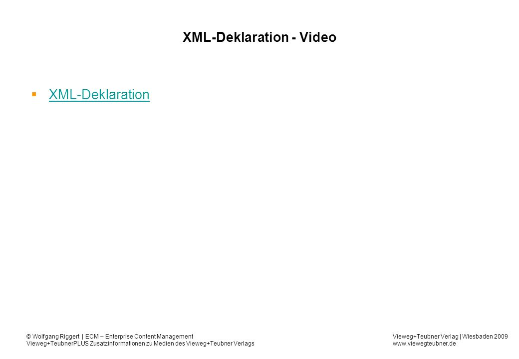 XML-Deklaration - Video
