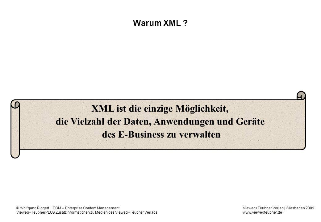 XML ist die einzige Möglichkeit,