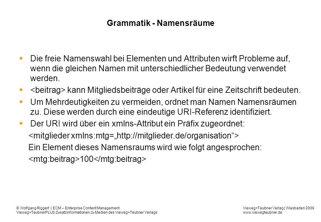 Grammatik - Namensräume