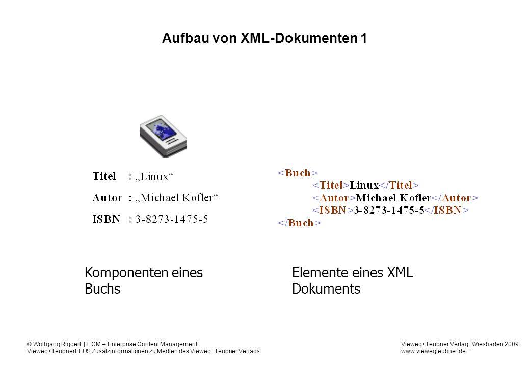 Aufbau von XML-Dokumenten 1