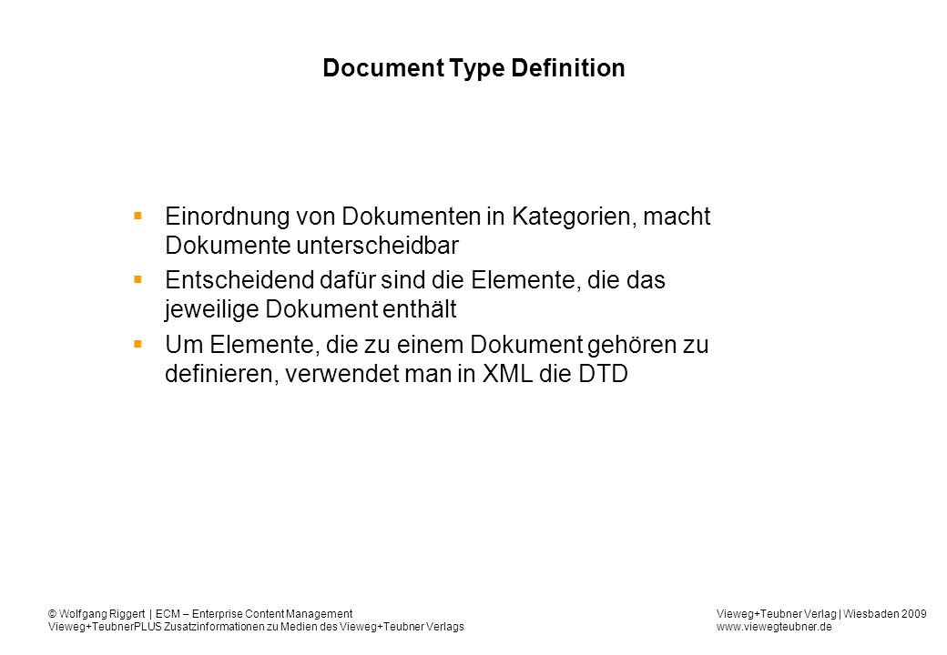 Document Type Definition