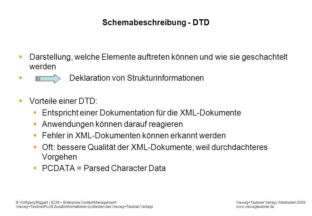 Schemabeschreibung - DTD
