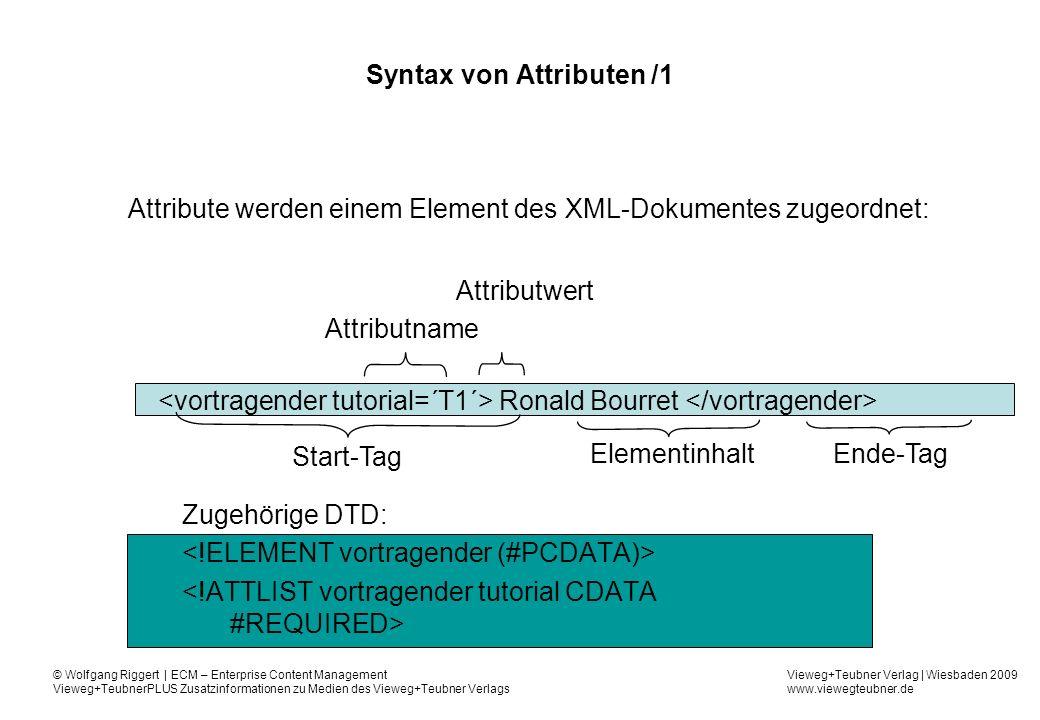 Syntax von Attributen /1