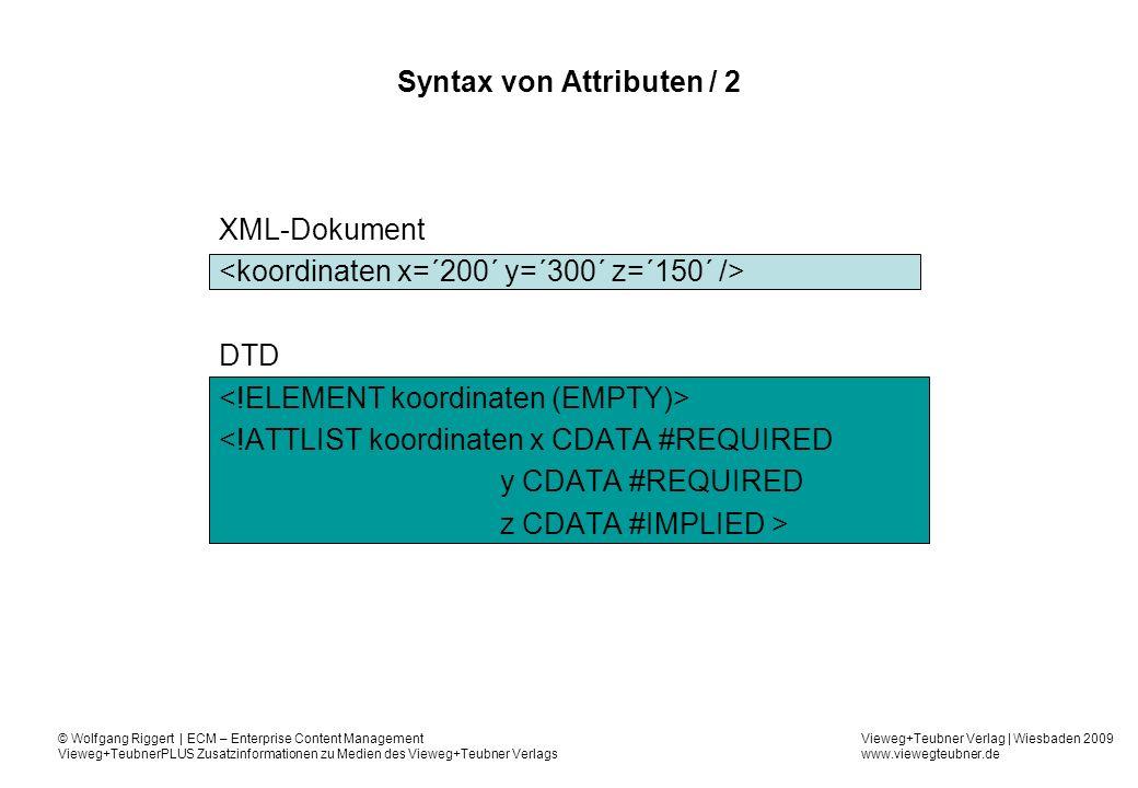Syntax von Attributen / 2