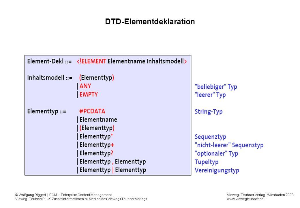 DTD-Elementdeklaration