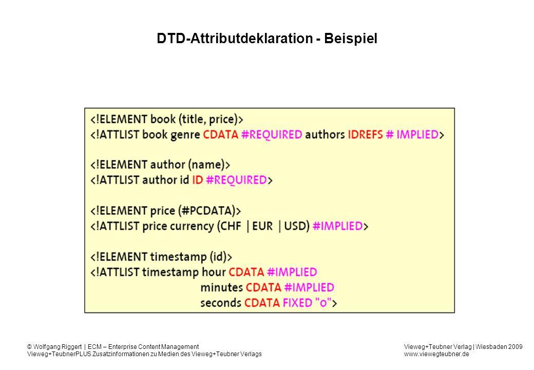 DTD-Attributdeklaration - Beispiel
