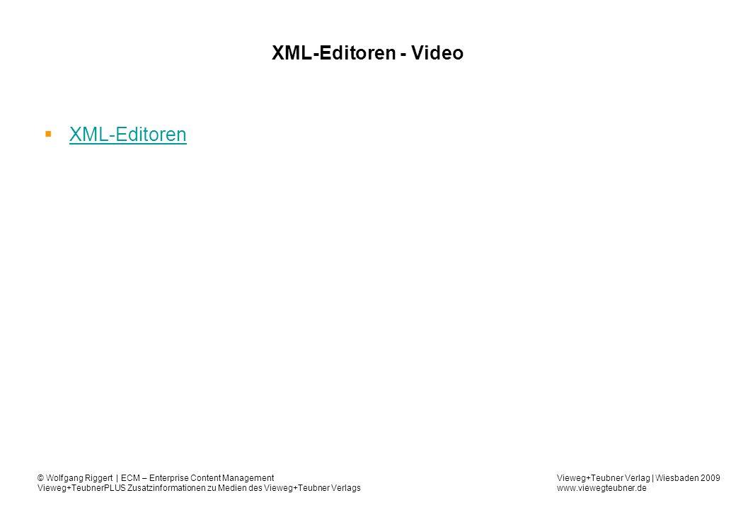 XML-Editoren - Video XML-Editoren 59