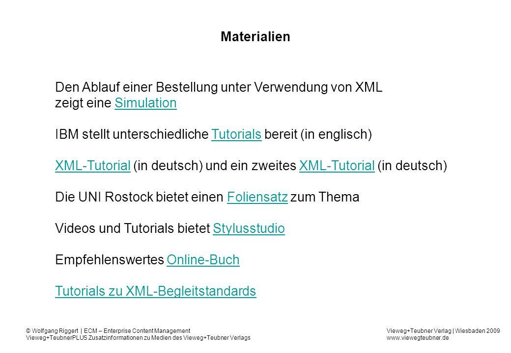 Den Ablauf einer Bestellung unter Verwendung von XML