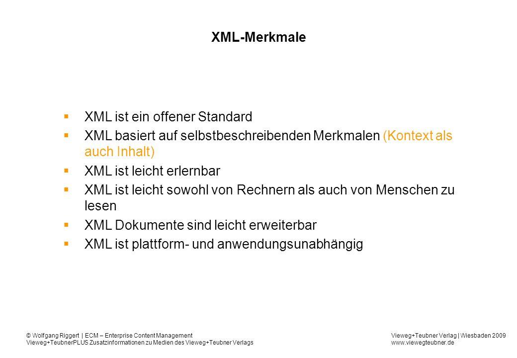 XML ist ein offener Standard