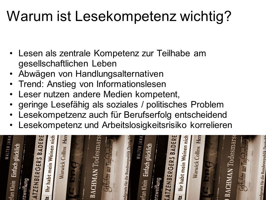 Warum ist Lesekompetenz wichtig