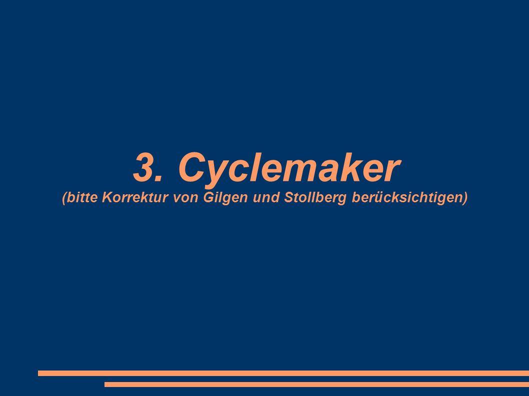 3. Cyclemaker (bitte Korrektur von Gilgen und Stollberg berücksichtigen)