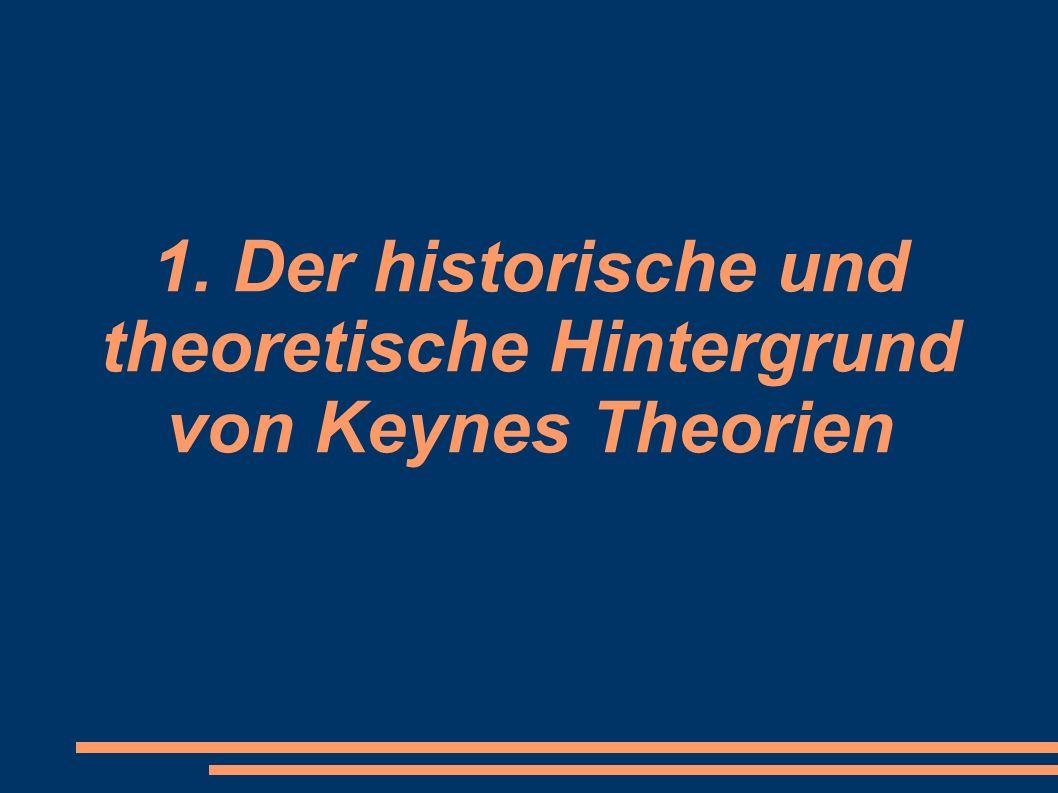 1. Der historische und theoretische Hintergrund von Keynes Theorien