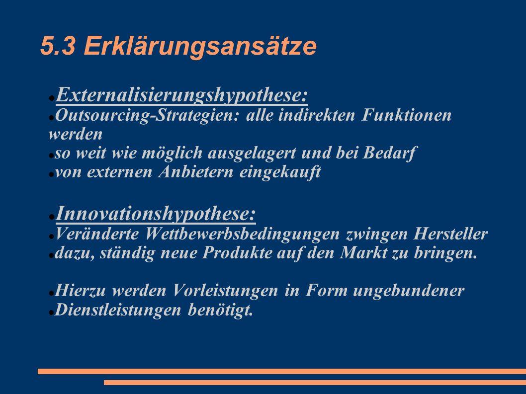 5.3 Erklärungsansätze Externalisierungshypothese: