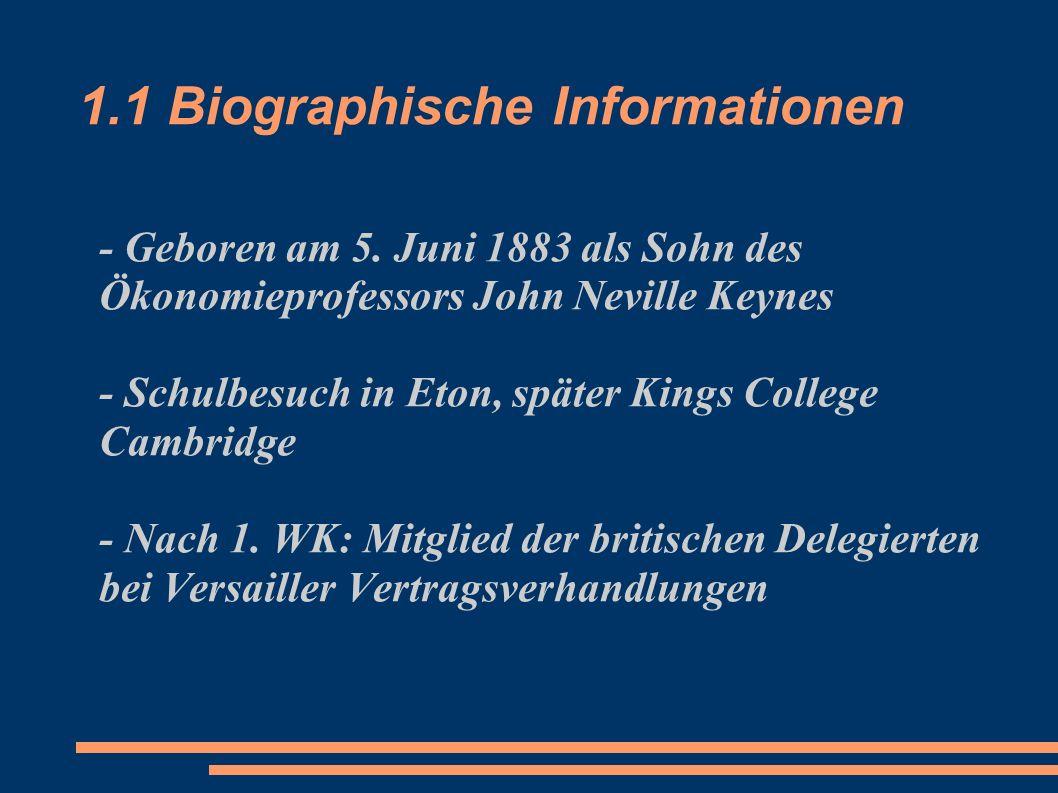 1.1 Biographische Informationen