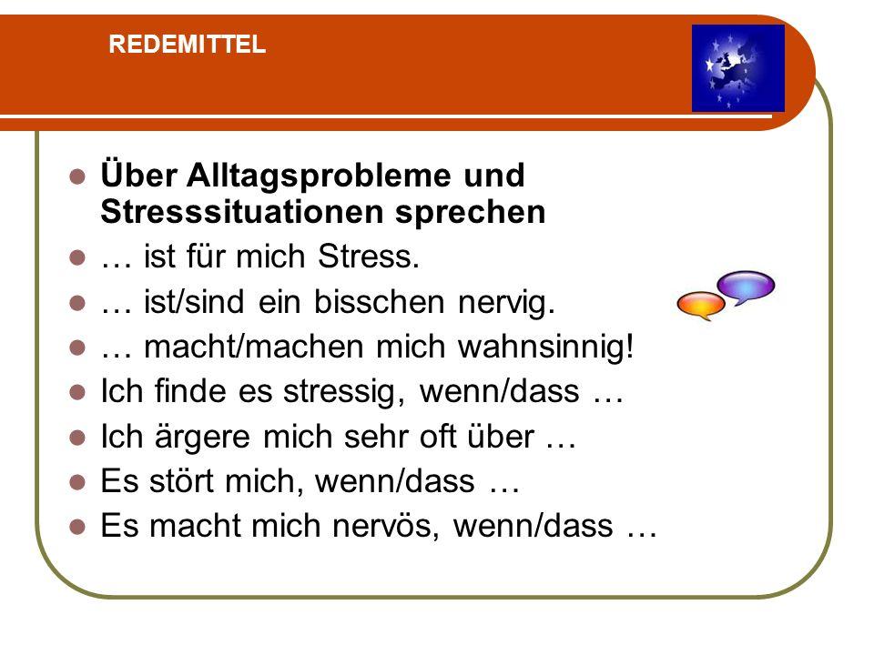 Über Alltagsprobleme und Stresssituationen sprechen