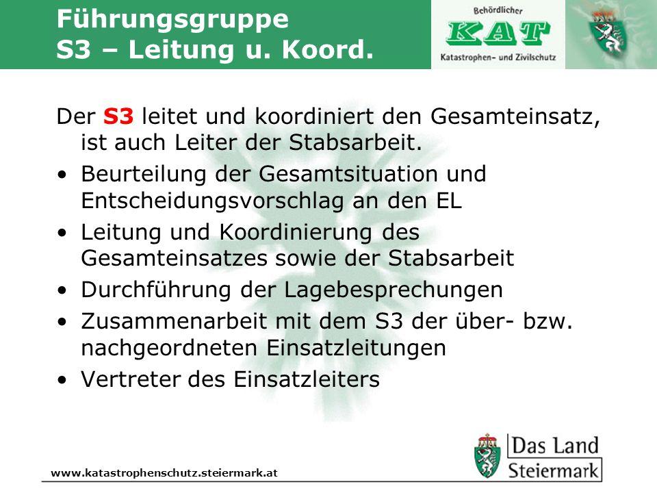 Führungsgruppe S3 – Leitung u. Koord.