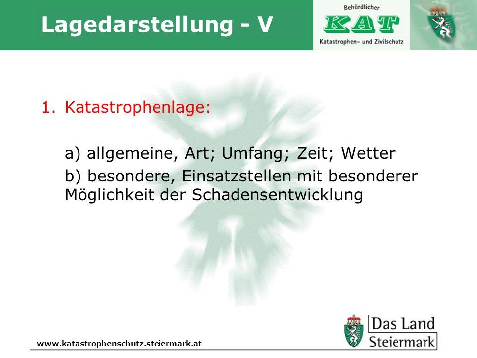 Lagedarstellung - V Katastrophenlage: