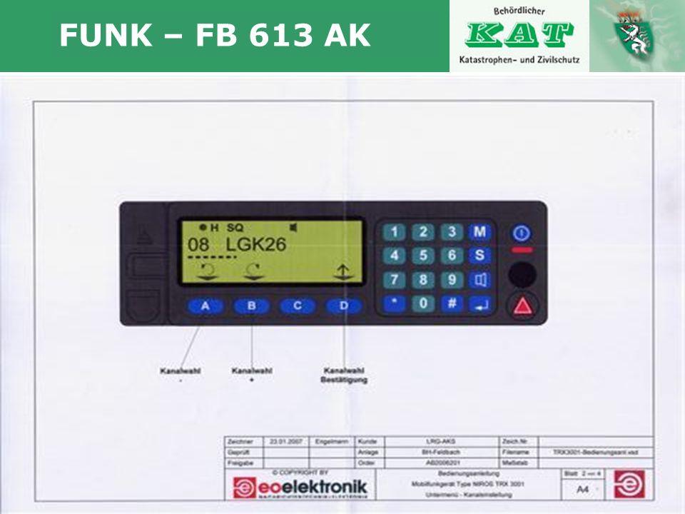 FUNK – FB 613 AK