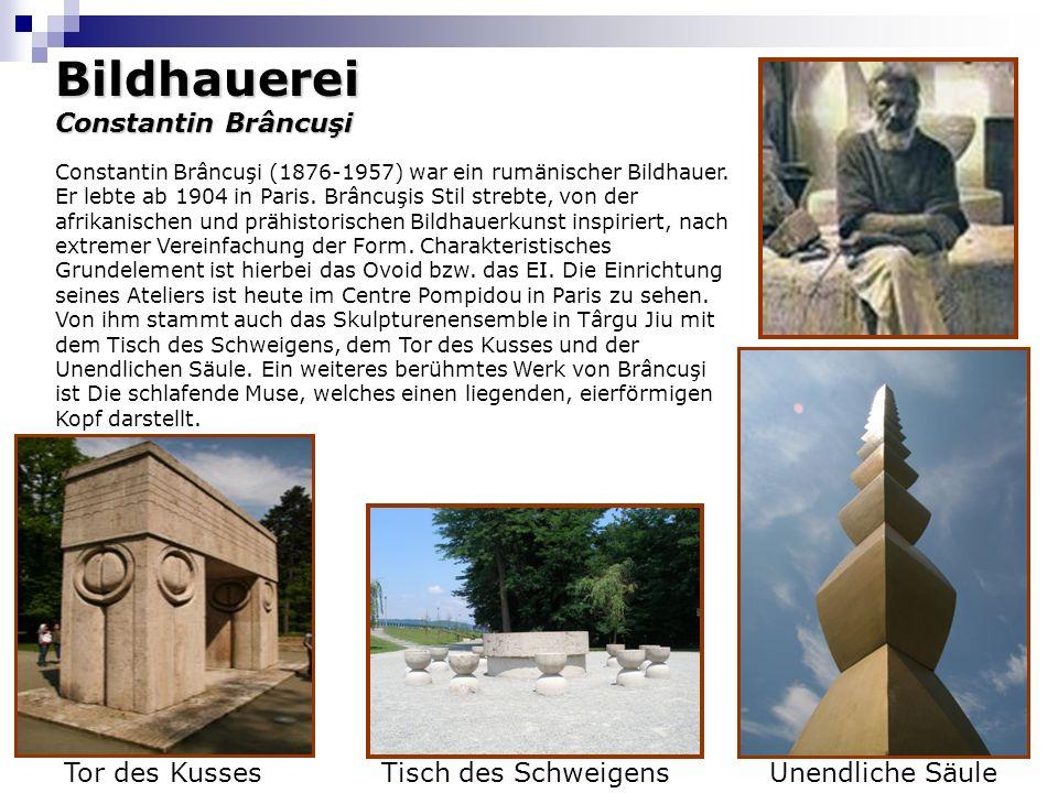 Bildhauerei Constantin Brâncuşi Tor des Kusses Tisch des Schweigens