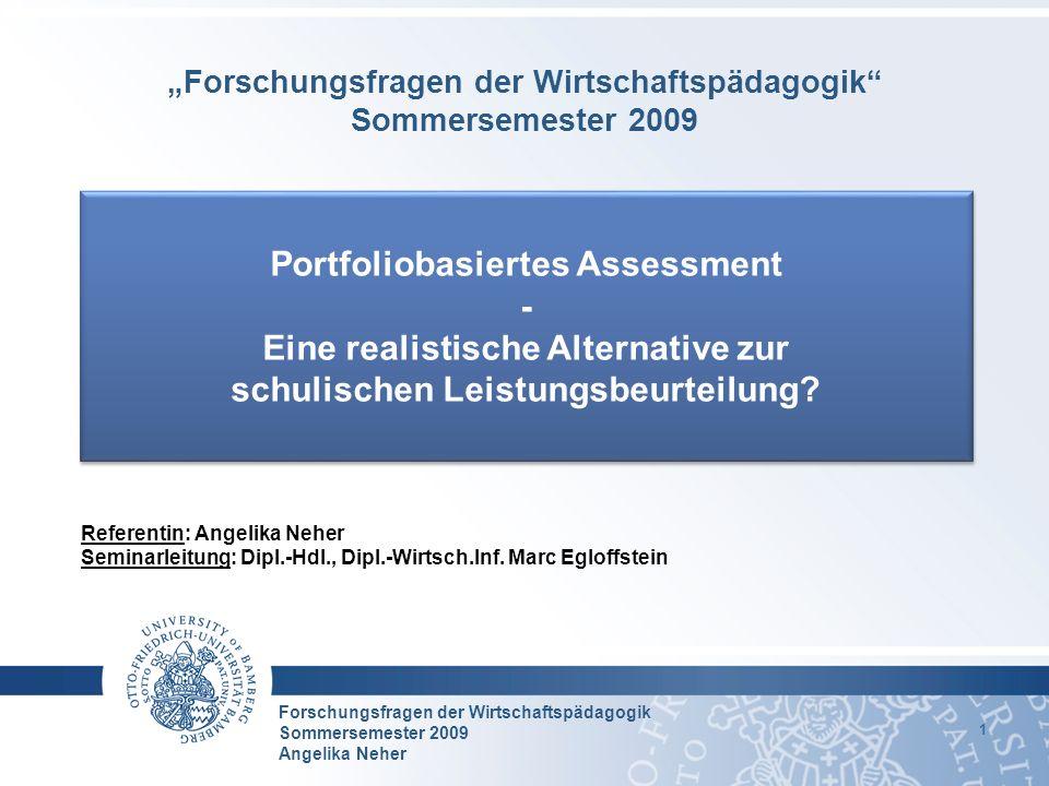 Portfoliobasiertes Assessment - Eine realistische Alternative zur