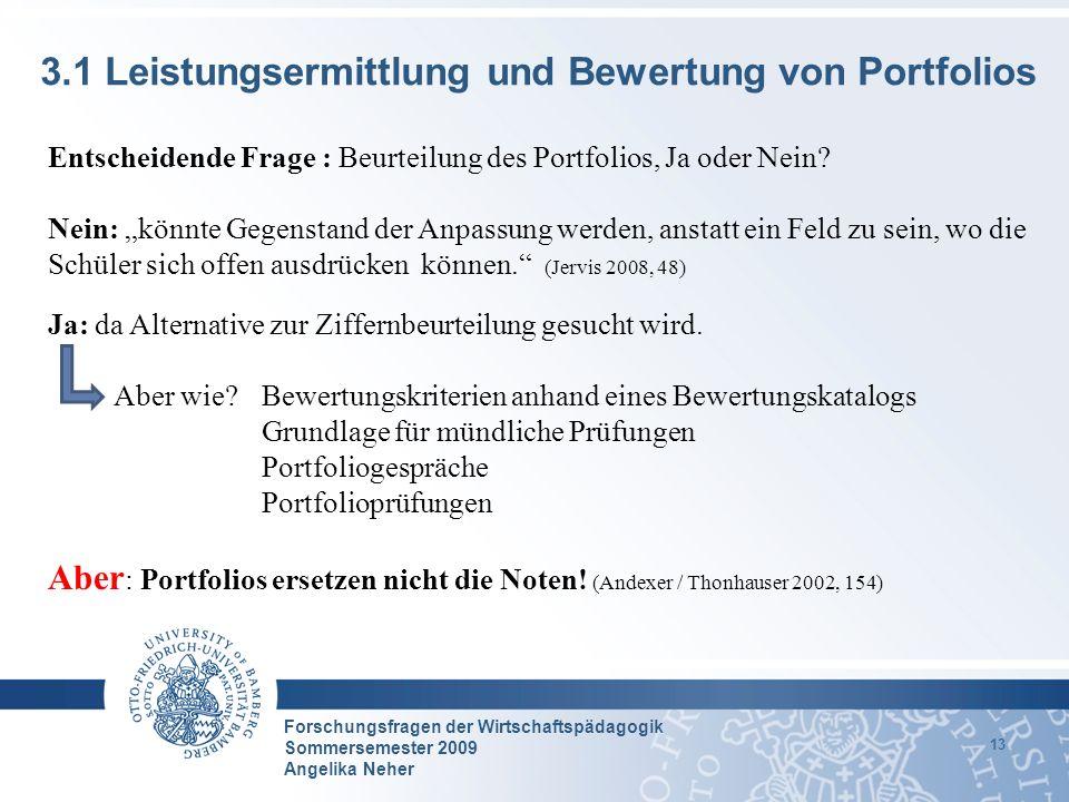 3.1 Leistungsermittlung und Bewertung von Portfolios