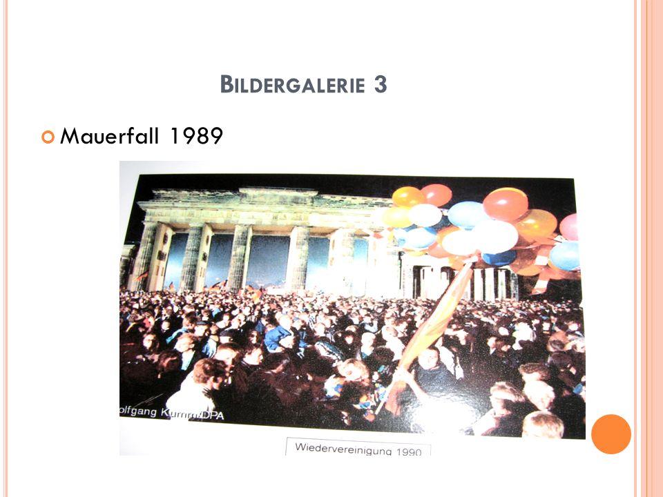 Bildergalerie 3 Mauerfall 1989