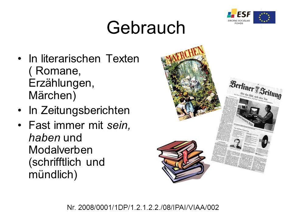 Gebrauch In literarischen Texten ( Romane, Erzählungen, Märchen)