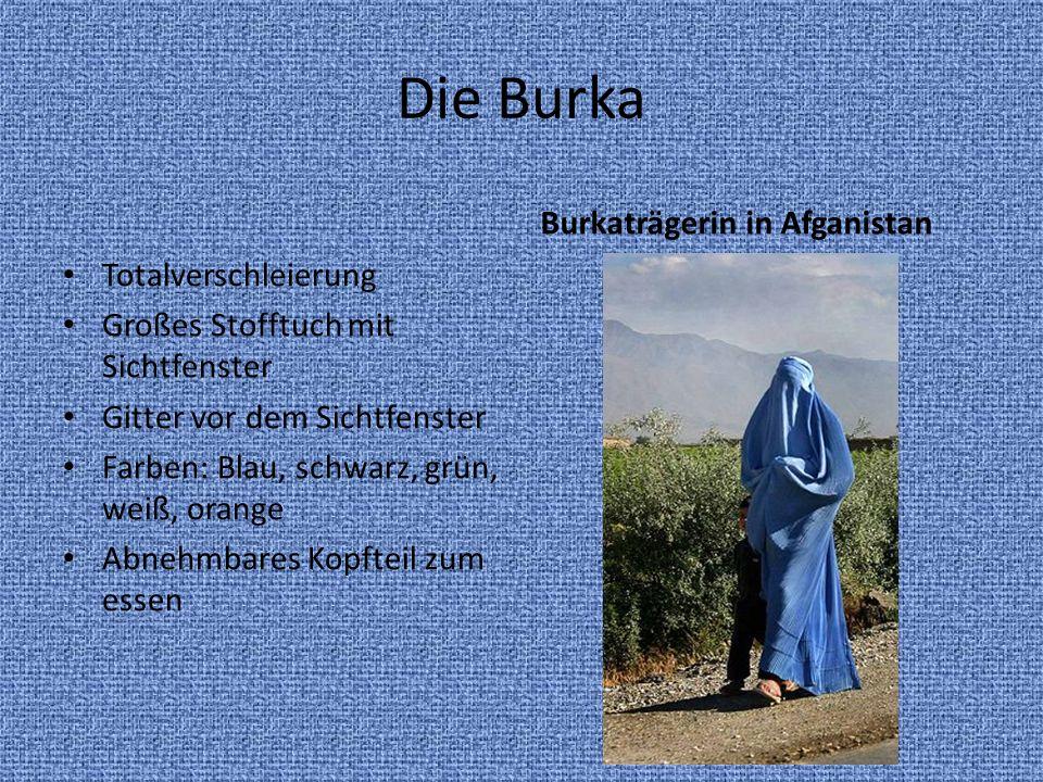 Die Burka Burkaträgerin in Afganistan Totalverschleierung
