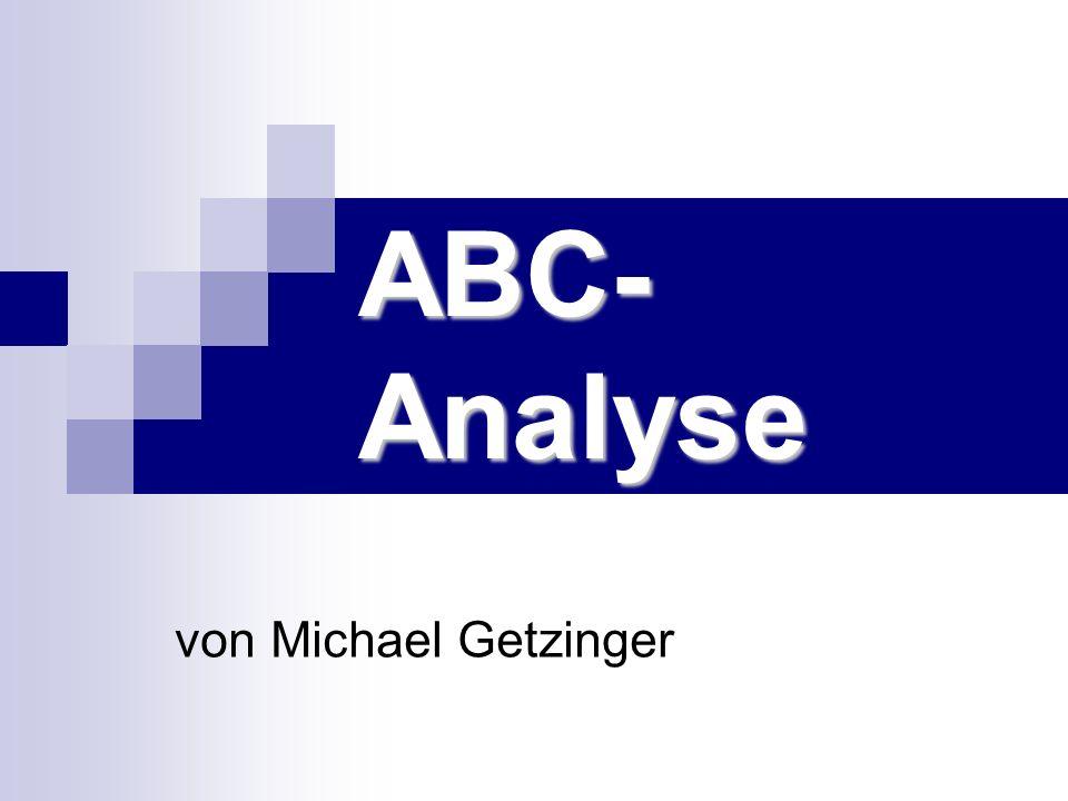 ABC-Analyse von Michael Getzinger