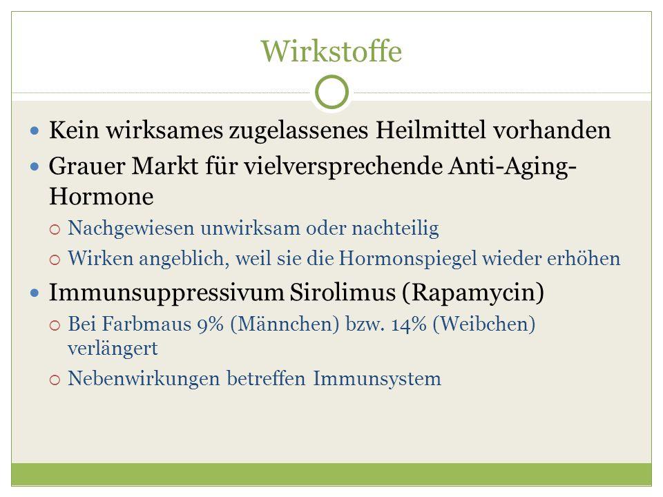Wirkstoffe Kein wirksames zugelassenes Heilmittel vorhanden