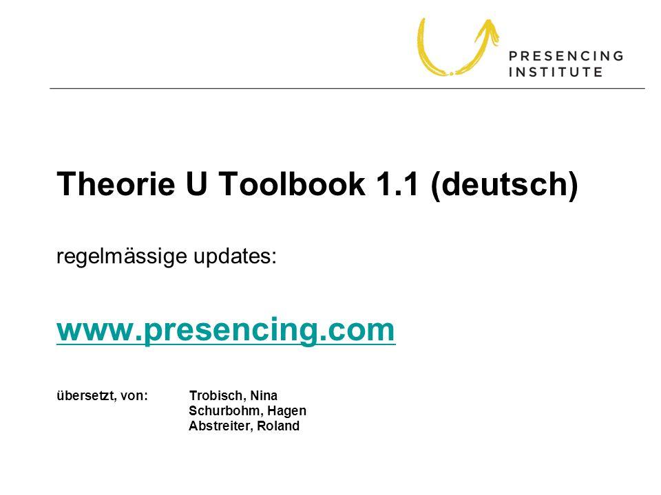 Theorie U Toolbook 1.1 (deutsch) regelmässige updates: www.presencing.com übersetzt, von: Trobisch, Nina Schurbohm, Hagen Abstreiter, Roland