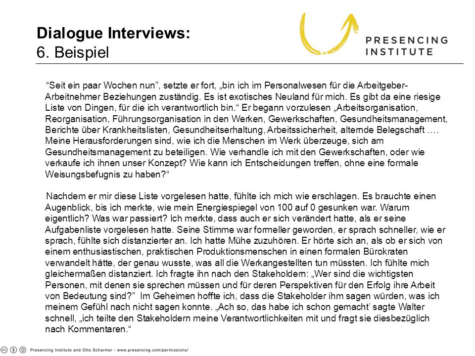 Dialogue Interviews: 6. Beispiel