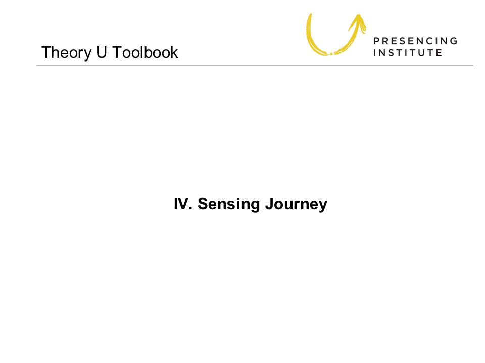 Theory U Toolbook IV. Sensing Journey