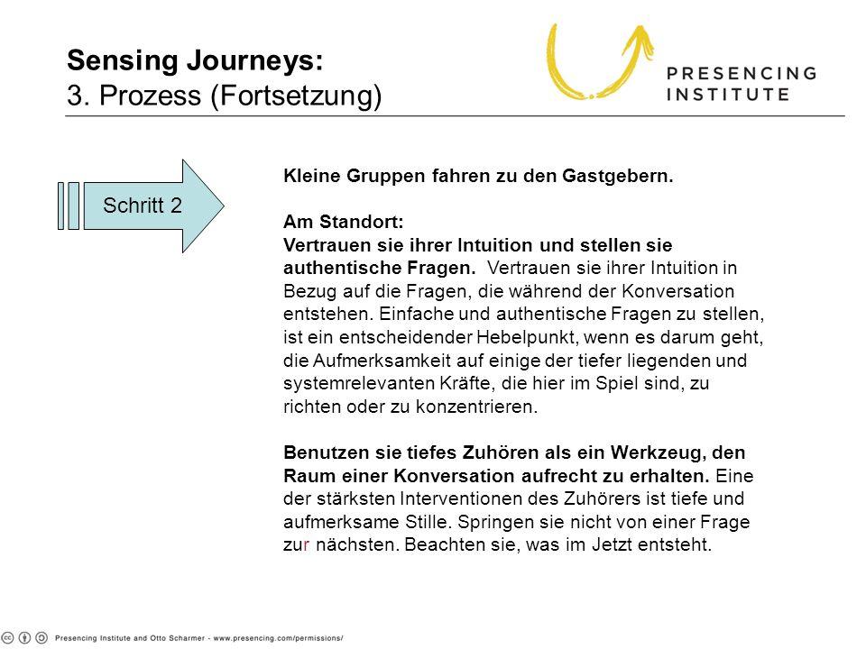 Sensing Journeys: 3. Prozess (Fortsetzung) 3. Process