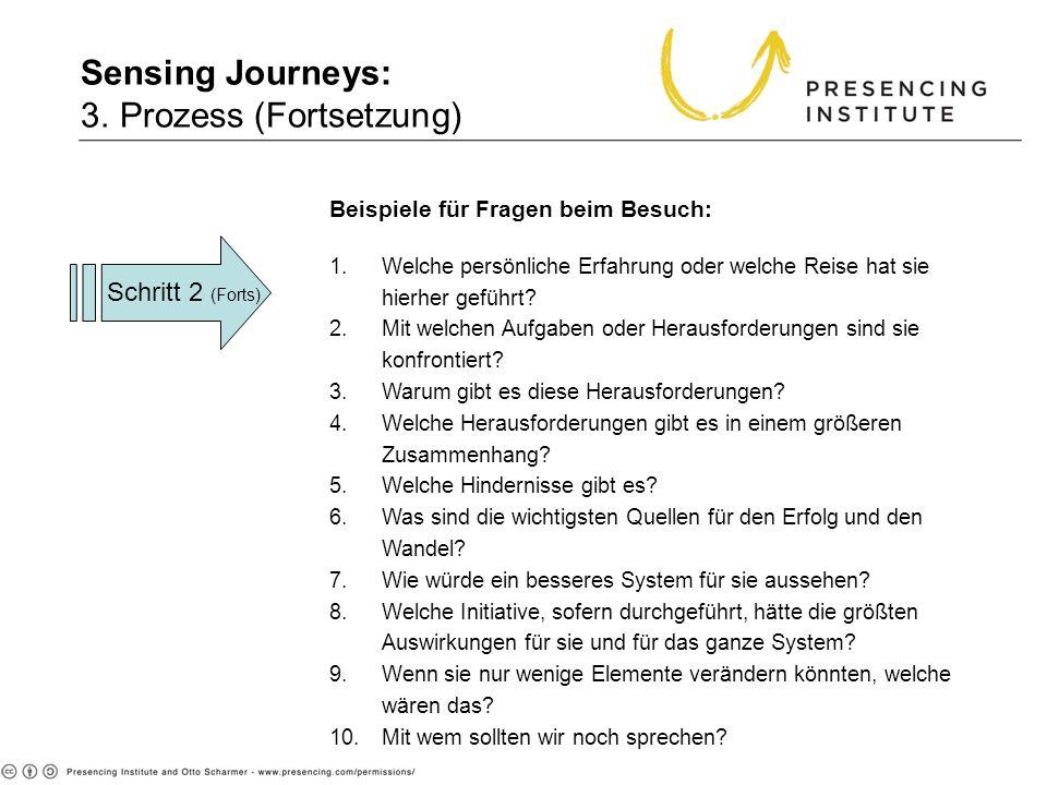 Sensing Journeys: 3. Prozess (Fortsetzung) 3. Proc (cont.