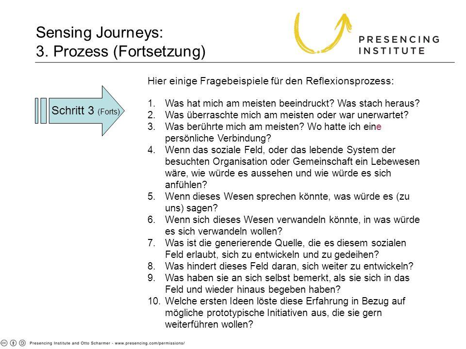 Sensing Journeys: 3. Prozess (Fortsetzung)