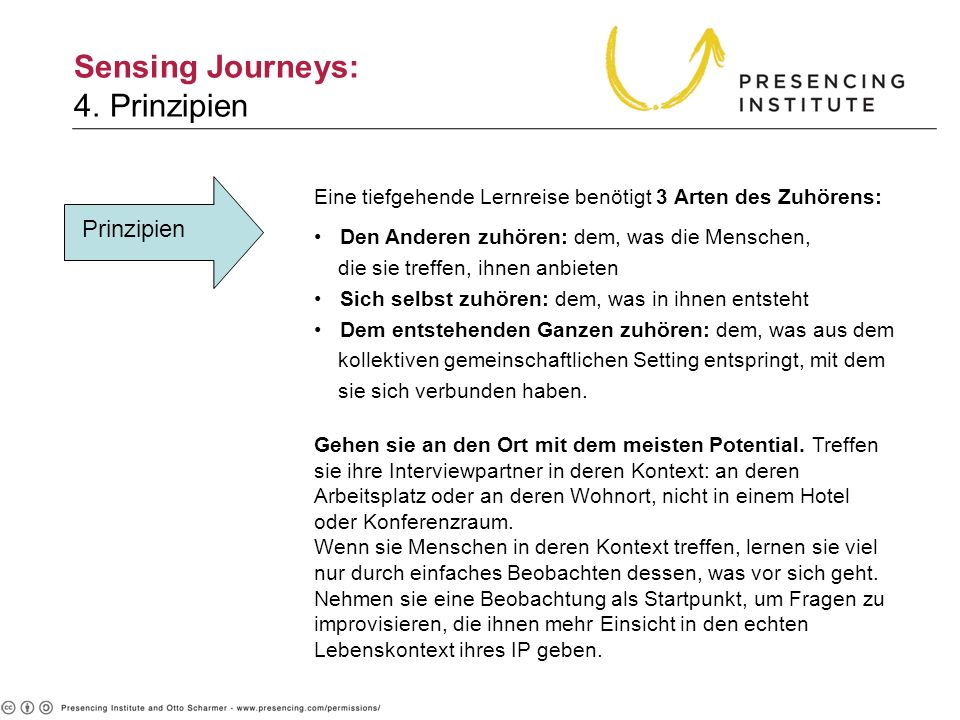 Sensing Journeys: 4. Prinzipien 4. Principles)