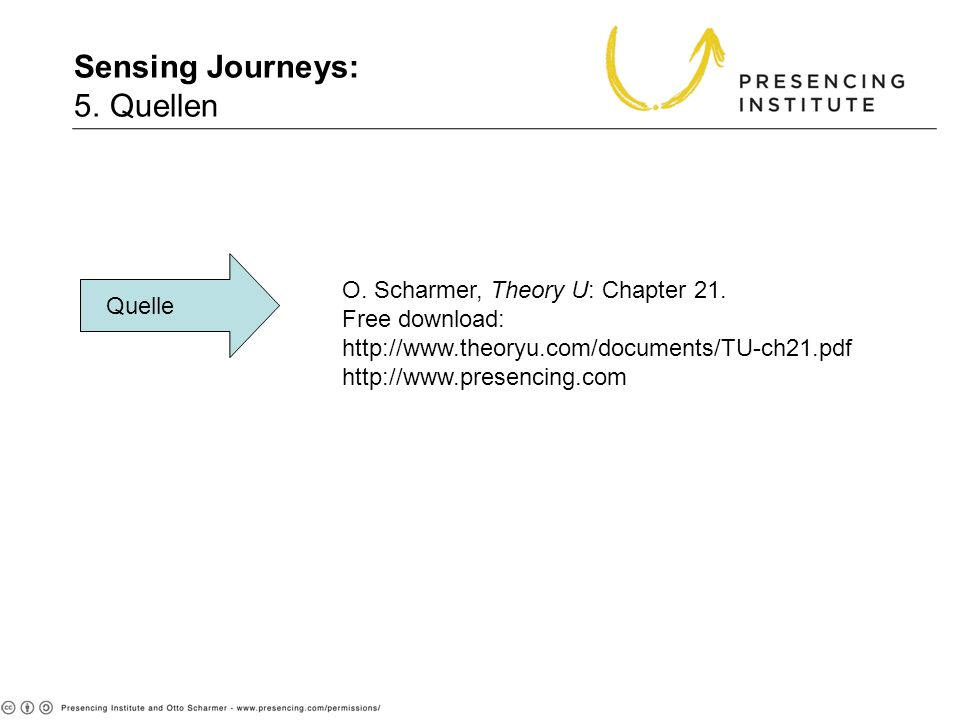 Sensing Journeys: 5. Quellen 5. Sources