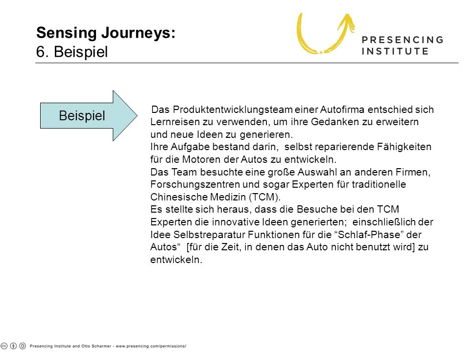 Sensing Journeys: 6. Beispiel