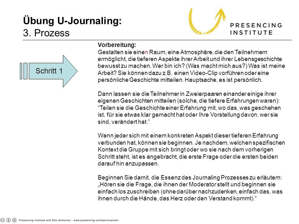 Übung U-Journaling: 3. Prozess