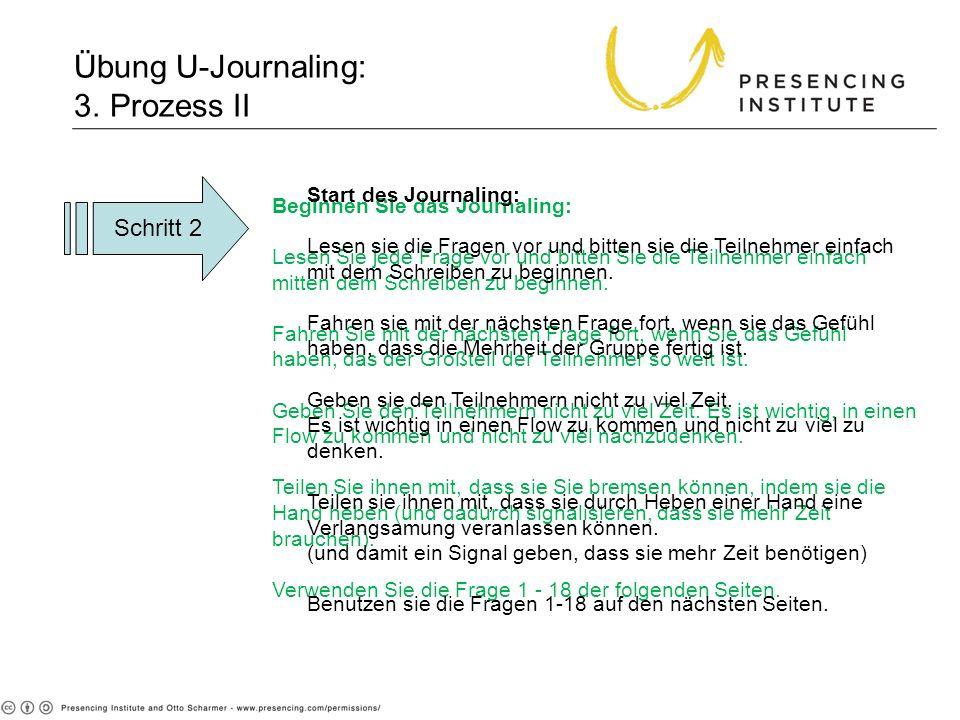 Übung U-Journaling: 3. Prozess II
