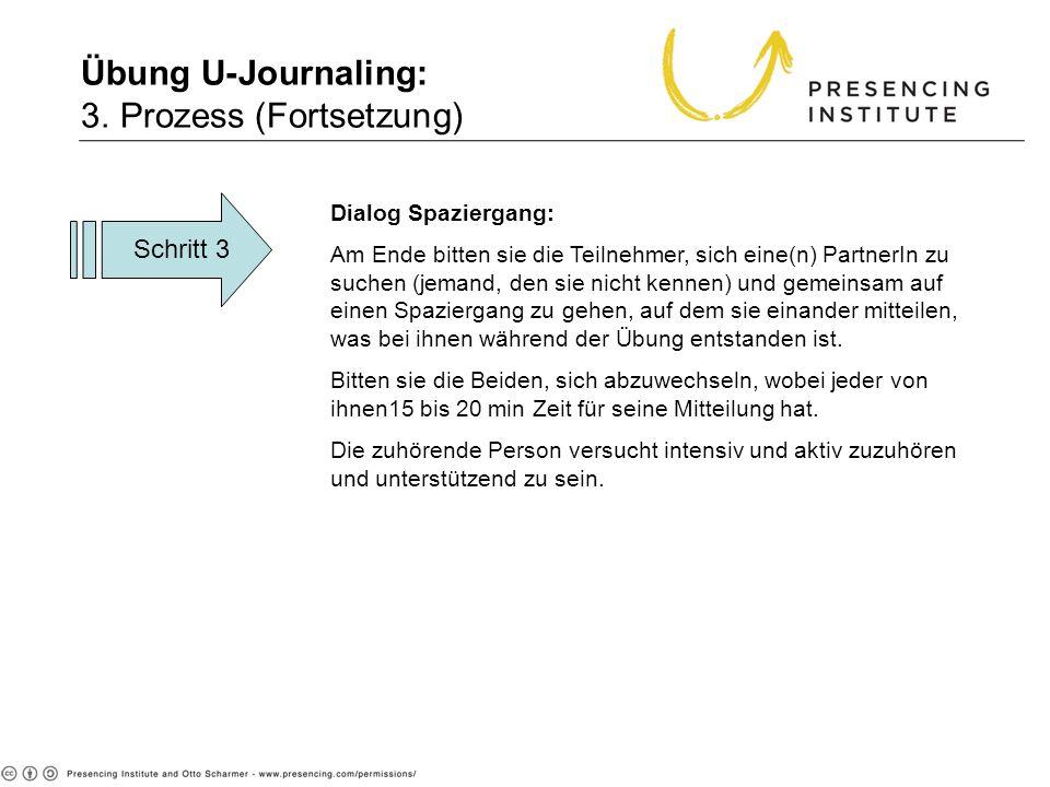 Übung U-Journaling: 3. Prozess (Fortsetzung)
