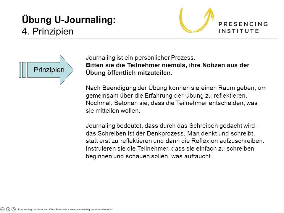 Übung U-Journaling: 4. Prinzipien